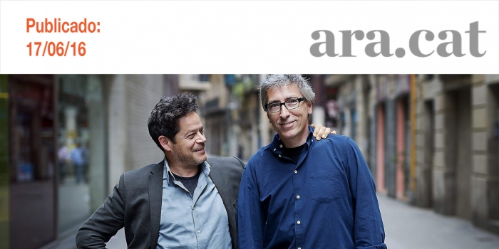 """David Trueba i Jorge Sanz: """"En un dels moments més durs de la meva vida, el David va decidir ajudar-me"""""""