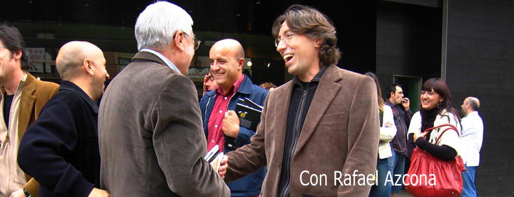 David Trueba con Rafael Azcona en Arnedo